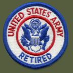 Retired Army Patch